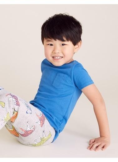 Marks & Spencer Organic Pamuklu T-Shirt Mavi
